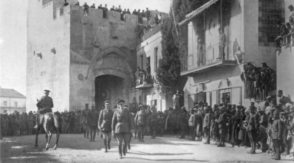1917: General Allenby liberates Jerusalem from Turkish rule.
